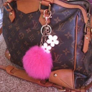 100% Real Rabbbit Fur Bag Charm Keychain